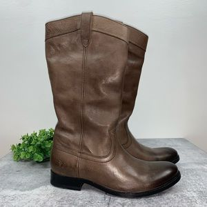 Frye Melissa Pull On Boots in Dark Taupe 8